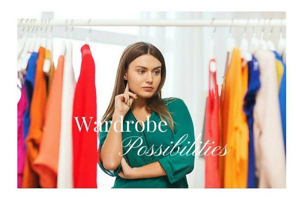 Woman standing looking in wardrobe