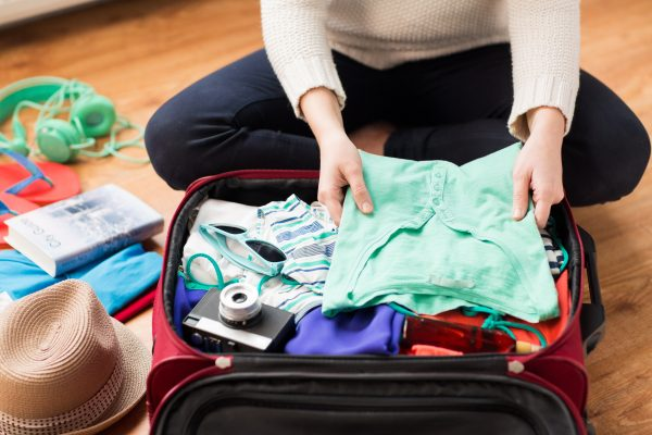 Woman Packing for Bali