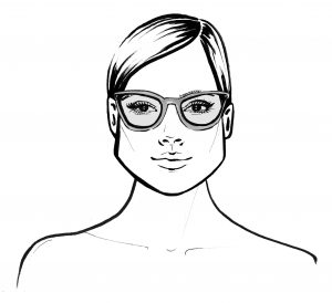 Triangular Face Shape wearing glasses