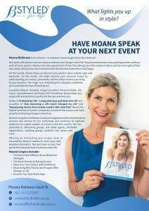 Moana Robinson Speaker Sheet