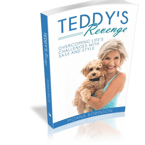 Book cover of woman holding a puppy